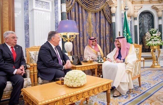 گفتگوی پمپئو با پادشاه عربستان درباره ایران ، بازدید از یک پایگاه نظامی که برای پاسخ به ایران فعال است