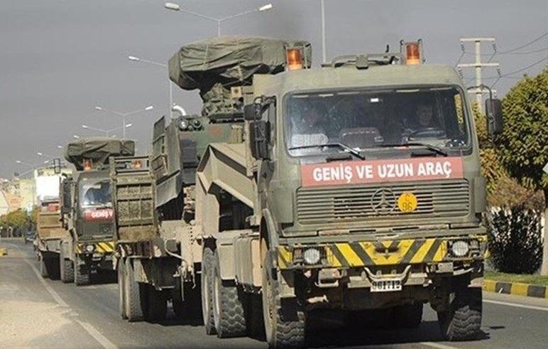 ورود 45 خودروی نظامی ترکیه به سوریه